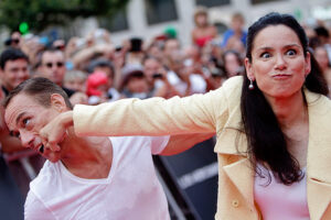 Жан-Клод Ван Дамм с женой Глэдис Португес