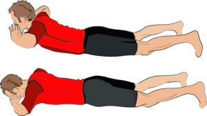 Упражнение гиперэкстензия на полу