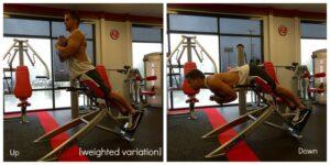 Упражнение гиперэкстензия под углом
