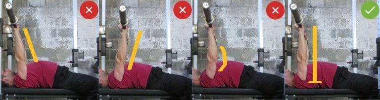 Локаут (выпрямление рук со снарядом на стойках)
