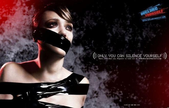 Джессика Альба на агитационном плакате