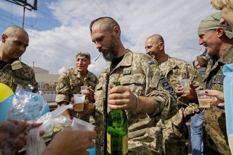 украинских военных